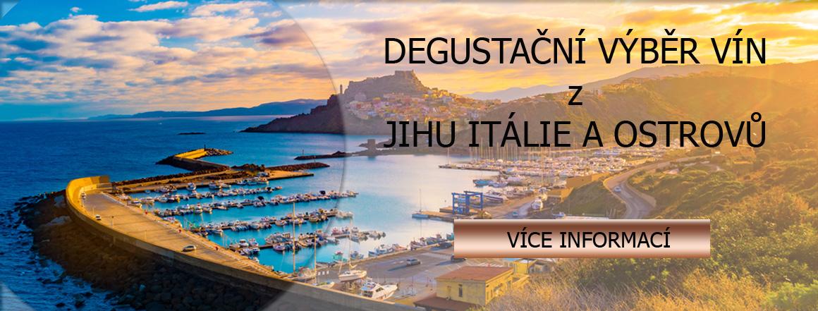 výběr vín z jihu itálie a ostrovů