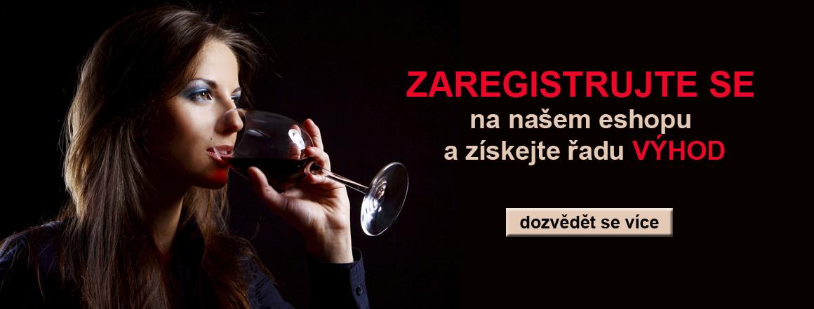 registrace na eshopu wine of italy a získání výhod