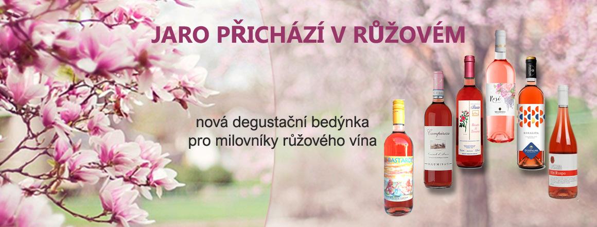 degustační bedýnka růžových italských vín
