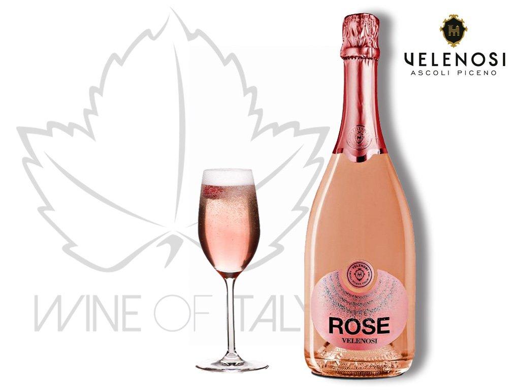 The Rose Brut Metodo Classico Velenosi vini