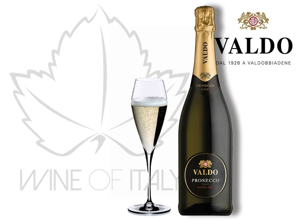 Prosecco Extra Dry DOC Valdo Spumanti Wine of Italy