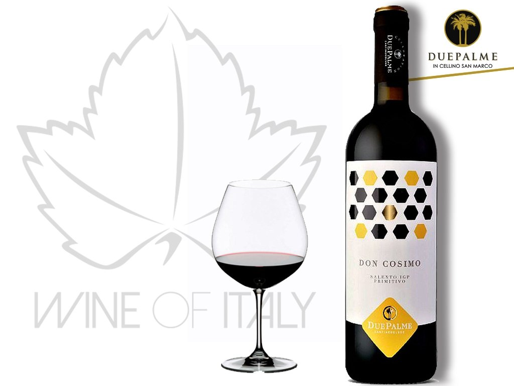 Primitivo DON COSIMO IGP Cantine Due Palme Wine of Italy