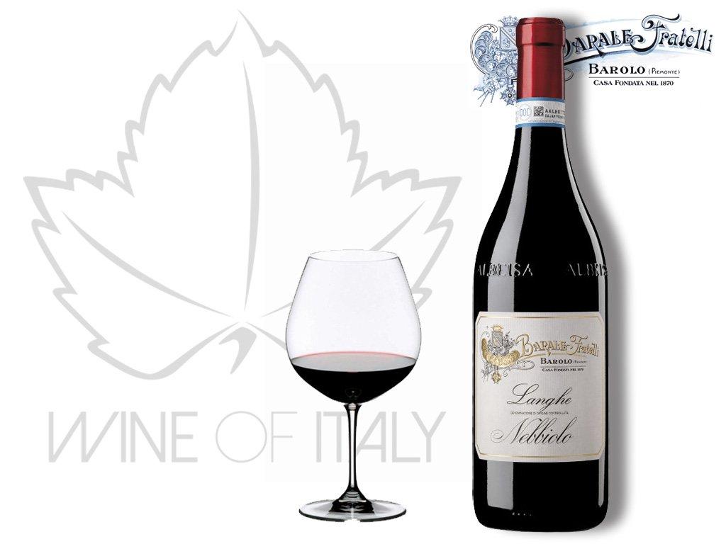 Langhe Nebbiolo DOC Barale Fratelli dodává Wine of Italy