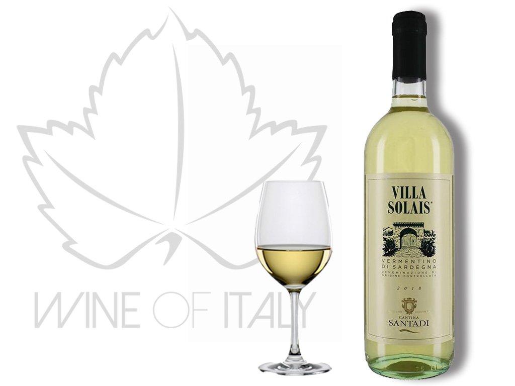 Villa Solais Vermentino di Sardegna DOC vinařství Santadi