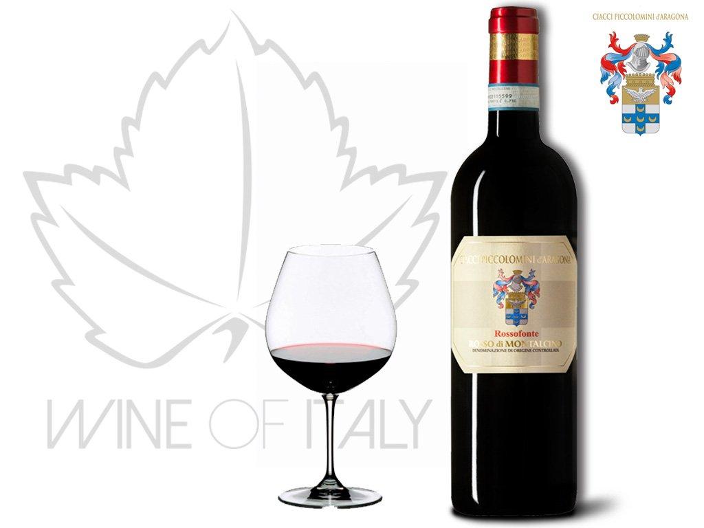 Rosso di Montalcino ROSSOFONTE DOC Ciacci Piccolomini Italy