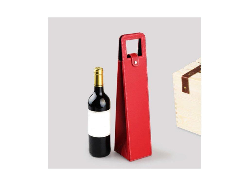 obal barex kůže na víno červený