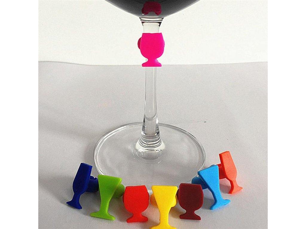 rozlišovač sklenic na víno