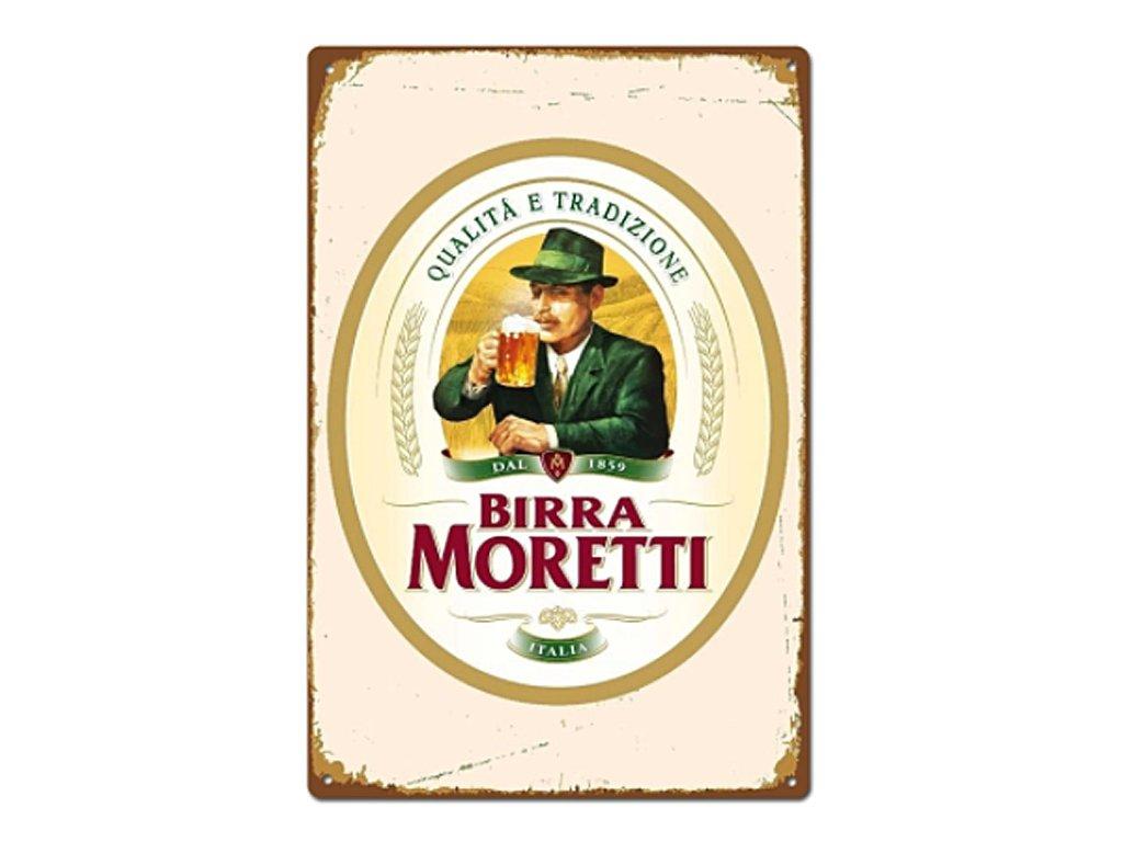 plechová retro cedule Birra Moretti
