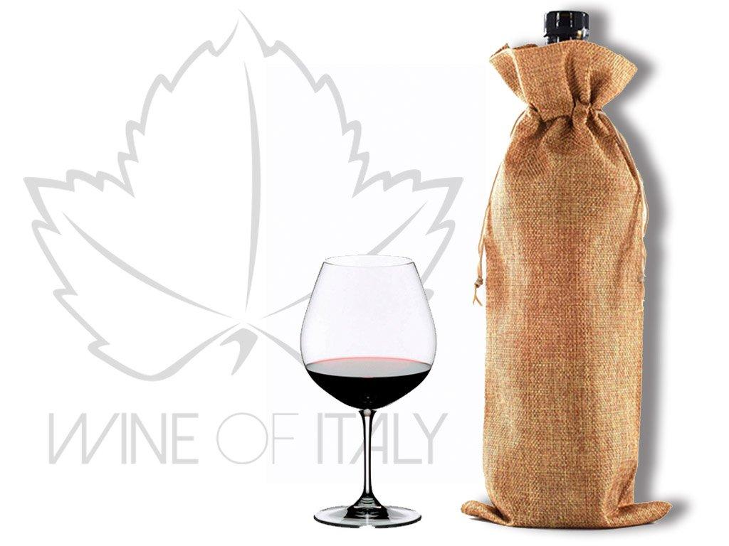 lněný obal na víno