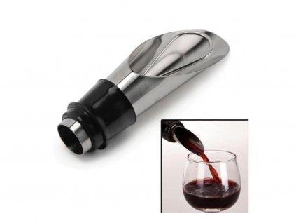 nerezová nálevka na víno