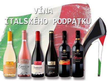 Výběr vín z italského podpatku