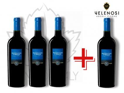 Montepulciano d´Abruzzo v akci 3+1 Velenosi vini