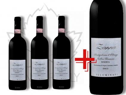 Zanna Montepulciano d'Abruzzo Colline Teramane DOCG Riserva akce 3+1 Illuminati vini