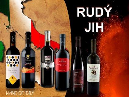 Rudý jih Itálie degustační bedýnka italských červených vín
