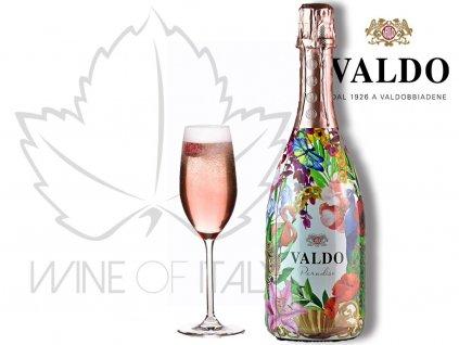 Valdo Paradise Rosé Bru, šumivé víno Itáliet