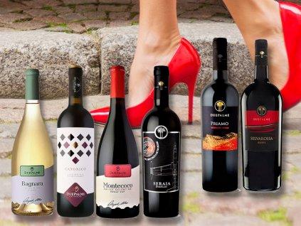 degustace vín z italského podpatku