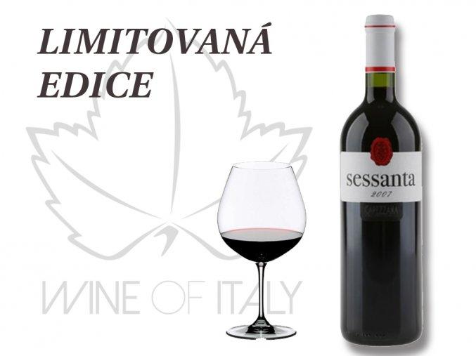 SESSANTA Rosso di Toscana IGT, 2007, limitovaná edice, Capezzana