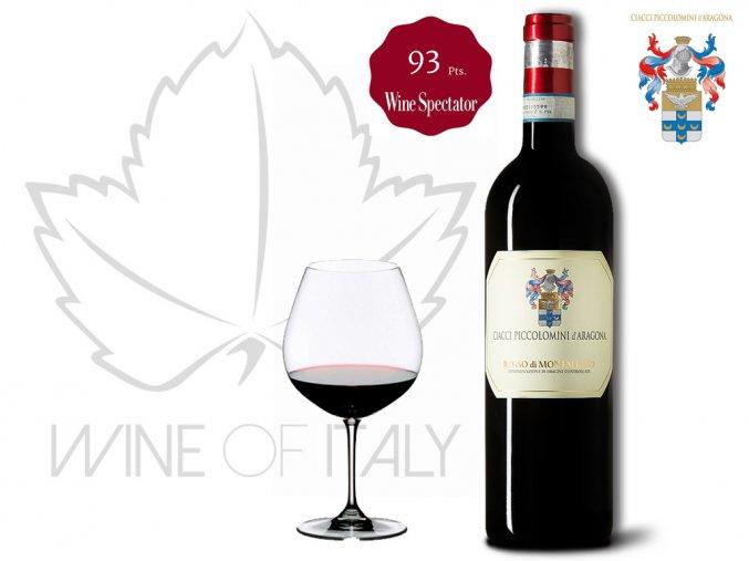 Rosso di Montalcino DOC, r. 2015  Ciacci Piccolomini d´Aragona Wine of Italy