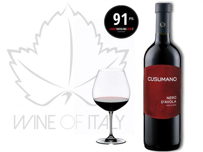 Nero d'Avola Sicilia rosso IGT, Cusumano - wineofitaly.cz