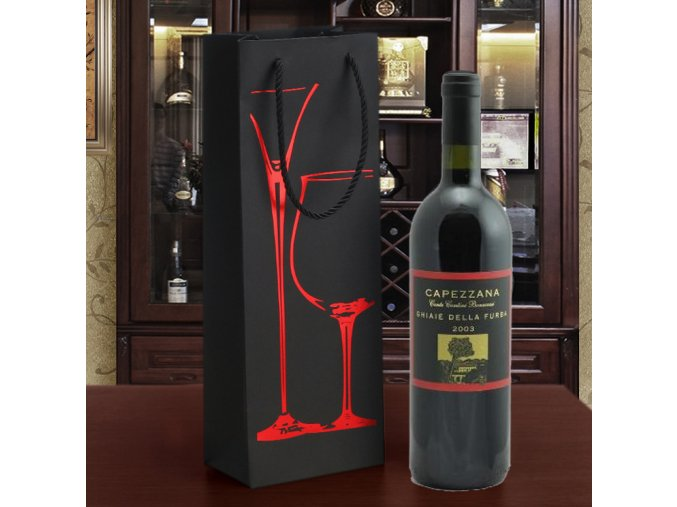 luxusní dárková taška na víno B R