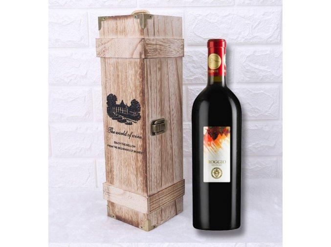 dřevěná krabice na víno