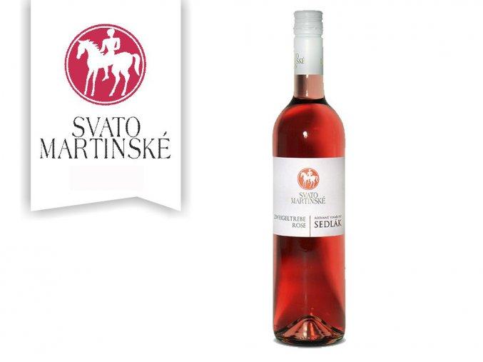 Svatomartinské růžové vinařství Sedlák