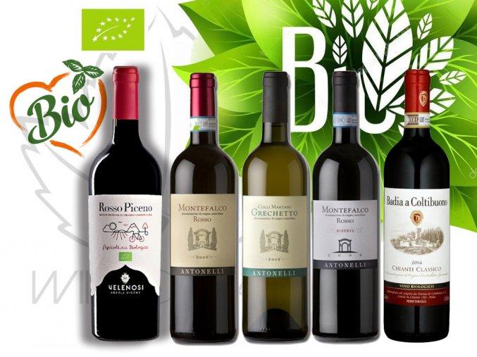 TOP degustační bedýnka BIO vína z oblasti Marche, Umbrie a Toskánska