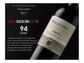 """Vino Nobile di Montepulciano """"Asinone"""" D.O.C.G. - ocenění  2015 Poliziano"""