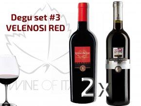 degu set RED Rosso Piceno Velenosi Vini - wineofitaly.cz