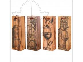 designová dárková taška na víno