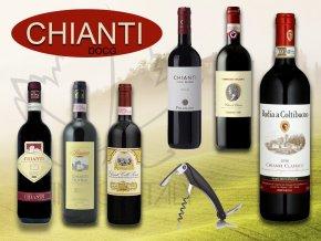 výběr vín CHIANTI degustační bedýnka