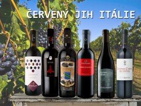 degustační bedýnka červených vín z jihu Itálie od Wine of Italy.cz