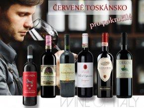 degustační bedýnka červené Toskánsko pro pokročilé od Wine of Italy