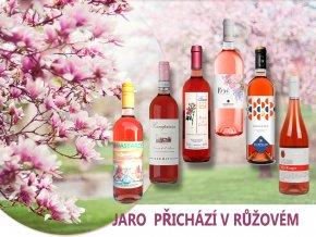 jaro v růžovém degustační bedýnka růžových vín od Wine of Italy