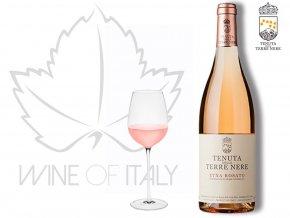 růžové víno Etna Rosato DOC Tenuta delle Terre Nere Itálie