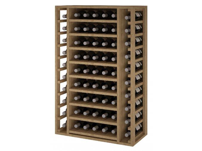 Regál na víno ARGANZA I (Materiál a odstín Borovice s odstínem světlý dub)