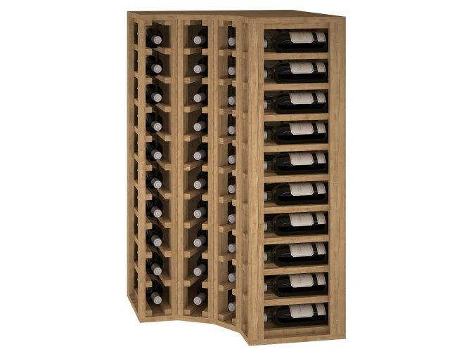 Regál na víno CAMPONARAYA (Materiál a odstín Borovice s odstínem světlý dub)