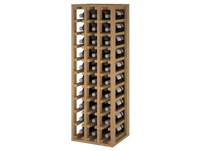 Regál na víno CANEDO III (Materiál a odstín Borovice s odstínem světlý dub)
