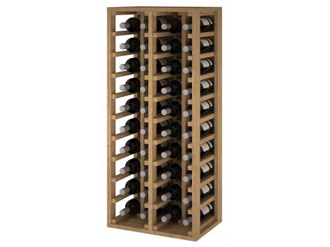 Regál na víno CANEDO IV (Materiál a odstín Borovice s odstínem světlý dub)