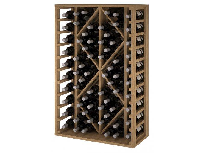 Regál na víno TORAL II (Materiál a odstín Borovice s odstínem světlý dub)