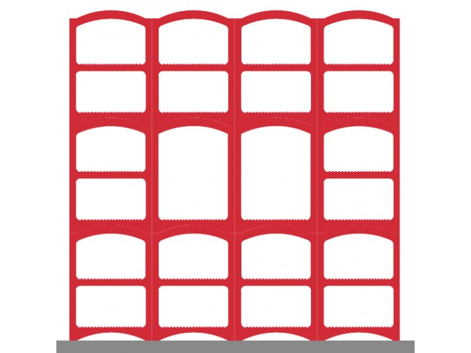 Weinregalsatz Bloc Cellier Klasik - rot