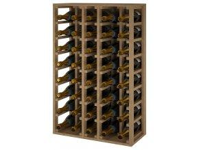 Regál na šampaňské CANEDO CHAMPAGNE (Materiál a odstín Borovice s odstínem světlý dub)