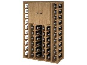 Regál na víno CACABELOS I (Materiál a odstín Borovice s odstínem světlý dub)