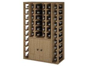 Regál na víno CACABELOS II (Materiál a odstín Borovice s odstínem světlý dub)