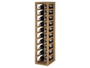 Regál na víno CANEDO II (Materiál a odstín Borovice s odstínem světlý dub)