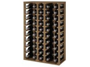 Regál na víno CANEDO MAGNUM (Materiál a odstín Borovice s odstínem světlý dub)
