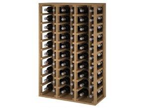 Regál na víno CANEDO V (Materiál a odstín Borovice s odstínem světlý dub)