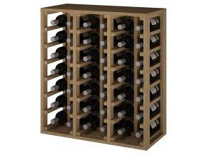 Regál na víno CANEDO VI (Materiál a odstín Borovice s odstínem světlý dub)