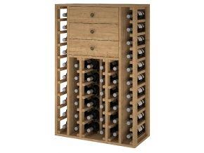 Regál na víno PEIRÓS I (Materiál a odstín Borovice s odstínem světlý dub)