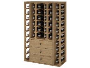 Regál na víno PEIRÓS II (Materiál a odstín Borovice s odstínem světlý dub)